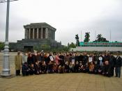 Ho Chi Minh Mausoleum, Vietnam, group of war veterans