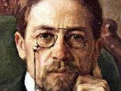 Anton Pavlovich Chekhov. Oil on canvas. From the collection of the Tretyakov Gallery.