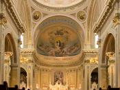 Interior of St Mary and the Angels Catholic Church in Chicago, Illinois, USA.