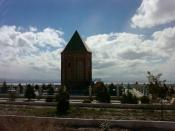 The tomb of Noah in the Nakhchivan area of the Azerbaijan Republic. The name Nakhchivan is believed to derive from the meaning