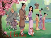 The main characters in Mulan II. From left to right: Ling, Chien-Po, Yao, Shang, Mulan, Mushu, Cri-Kee, Su, Ting-Ting and Mei.