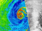 English: Shows 2 concentric eyewalls and the eyewall replacement cycle of Typhoon Nida (2009)