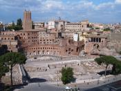 The forum of Trajan and the visible part of the Trajan's market