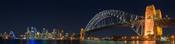 English: Sydney Harbour Bridge as seen from the North Shore suburb of Kirribilli. Français : Le Harbour Bridge vu depuis Kirribilli, une commune de la banlieue de Sidney sur la rive nord. 中文: 从克里比利北岸拍摄的悉尼港大桥。
