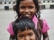 Devi and Arul, two street children. Thiruvanmiyur, Chennai.