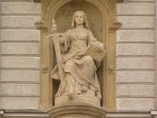 J. L. Urban, statue of Lady Justice at court building in Olomouc, Czech Republic
