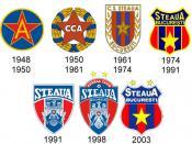 FC Steaua Bucureşti logos throughout history