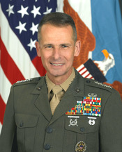 U.S. Marine Corps General Peter Pace, Chairman of the Joint Chiefs of Staff.