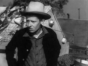 Trailer for the 1940 black and white film The Grapes of Wrath. O.Z. Whitehead as Al Joad.