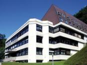 Main building of Villa Blanka, a secondary school (high school) for hospitality industry training in Innsbruck, Tyrol, Austria