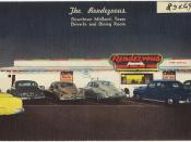 The Rendezvous, Downtown Midland, Texas, drive-in and dining room