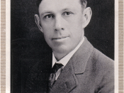 Bennie Owen, coach of the Oklahoma Sooners football team from 1905-1926. Also coached the Sooner basketball team from 1909-1920. Also coached the baseball team for an undetermined length of time.