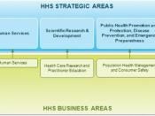 HHS Strategic Areas. The diagram shows the alignment of the HHS EA Business Areas to the HHS Strategic Goals as described in the HHS Strategic Plan