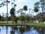 English: Daytona Beach Golf Course, South Course, Daytona Beach, Florida. Designed by Donald Ross in 1922.