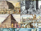 English: A collage of The Seven Wonders of the (ancient) world, depicted by 16th-century Dutch artist Maarten van Heemskerck.