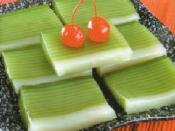 Indonesian cake made mainly of glutinous rice and resembles Soylent Green. LOL