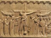 English: The Deposition from the cross, from the Duomo of Parma, by Benedetto Antelami.