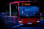 English: 31 Snarøya bus. From Grorud, through Oslo, to Snarøya. Norsk (bokmål): 31 Snarøya-bussen. Fra Grorud, gjennom Oslo, til Snarøya.
