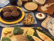 food sources of magnesium: bran muffins, pumpkin seeds, barley, buckwheat flour, low-fat vanilla yogurt, trail mix, halibut steaks, garbanzo beans, lima beans, soybeans, and spinach