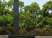 Ground Zero marker in Nagasaki, Japan