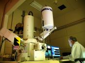 Research being carried out at the Microscopy lab of the . This photo was taken on July 28, 2006 using a Nikon D70. For more information about INL's research projects and career opportunities, visit the lab's facebook site. www.facebook.com/idahonationalla