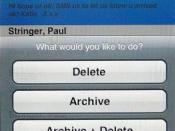 Treasuremytext for iPhone: Archive Options