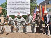 Groundbreaking at new Information Processing Center