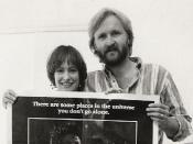 English: Aliens Producer Gale Anne Hurd and Writer/Director James Cameron