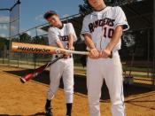 English: Thomas Troutman, left, and Josh Allyn were recently selected to the Reebok U.S. Specialty Sports Association 15 and under baseball team. Troutman is a 14-year-old freshman at Terry Sanford High School, and Allyn is a 15-year-old sophomore at Faye