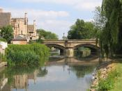 River Welland banks and Town Bridge