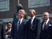 President Bill Clinton with Nelson Mandela, July 4 1993.