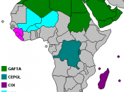 Map of the trade blocs on the African continent that are not part of the African Economic Community