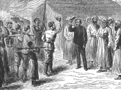 Henry Morton Stanley meets David Livingstone in Ujiji, 1871.