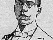 Sketch of African-American poet Paul Laurence Dunbar