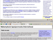 Screenshot of first finnish site censored by internet censorship in finland and Failed with domains.