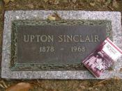 Grave site of Upton Sinclair in Washington, DC