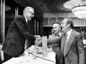 Maclyn McCarty (June 9, 1911, to January 2, 2005) with Francis Crick and James D. Watson