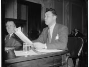 Lee Pressman testifying