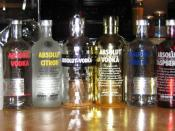 English: From the left to the right: Absolut Pears, Absolut Apeach, Absolut Mandrin, Absolut Vanilia, Absolut Vodka (50%), Absolut Citron, Absolut Disco, Absolut Bling-Bling, Absolut Vodka (40%), Absolut Raspberri, Absolut Kurant, Absolut Britto, Absolut