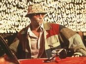 Raoul Duke (Johnny Depp) in Fear and Loathing in Las Vegas.
