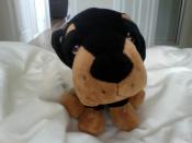 English: A stuffed dog.