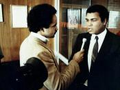 English: Curt Anderson interviews Muhammad Ali
