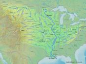 English: Map of the Mississippi River to replace the old one which had a lot of problems in it