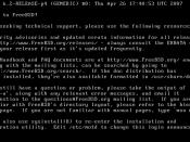 FreeBSD 6.2 welcome screen