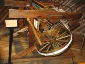 A Spinning Jenny, spinning machine which was significant in the beginning of the Industrial Revolution