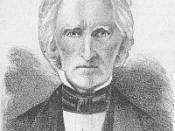 Portrait of Ohio and Iowa Territory governor Robert Lucas, published in Abbott's History of Ohio, 1875.