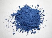 Natural ultramarine pigment in powdered form