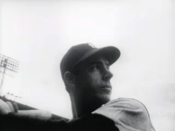 English: New York Yankees slugger during the at . * Screen capture from the film located at: http://www.archive.org/details/NewsMaga1950 This movie is part of the collection: Prelinger Archives