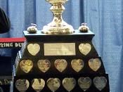 English: The Brier, known presently as the Tim Hortons Brier, Canada's national curling championship trophy.