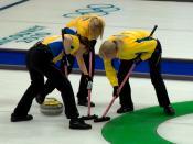 English: 2010 Winter Olympic Games; curling team Sweden Polski: Zimowe Igrzyska Olimpijskie 2010: kobieca reprezentacja Szwecji w curlingu